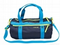 polyester travel duffle bag blue color