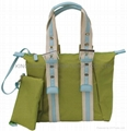 Fashion polyester Tote bag green color