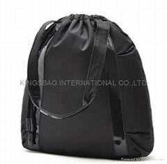 Fashion carry bags drawstring closure,classic black color