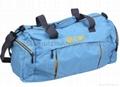 polyester travel duffle bag blue color,custom duffle bag