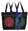 Eco friendly tote bag,canvas shopping tote bag with prints