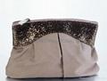 microfiber cosmetic bag with dots prints, beauty makeup bag