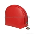 Fashion Beauty red color PVC leather Makeup bag ,cosmetic bag,clutch bag