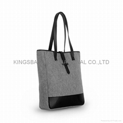New collection fashion ladies felt tote bag, beauty handbag