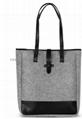 New collection fashion ladies felt tote bag, beauty handbag