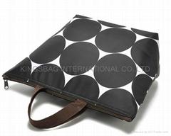 Microfiber ladies tote bag ,fashion women shopping bag