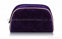 Velvet fabric cosmetics bag, velvet makeup bag, small purse
