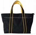 High quality men tote bag with unique design, polyester men shopper bag
