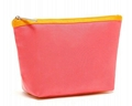 White PU/PVC cosmetic bag with hot stamp logo