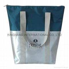 Unisex 1680D polyester tote bag, 2C combined fashion shopper bag