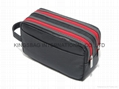 Men's toiletry bag,polyester or nylon toiltery bag black color,men cosmetic bag