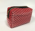 Fake Fur cosmetic bag with prints,beauty