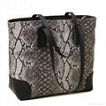 Snake pattern PU leather ladies tote bag