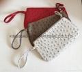 PU ladies beauty clutch bags ostrich pattern design,ladies clutch purse PU made