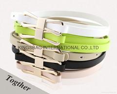 Geniune leather fashion beauty ladies belt,A-Grade ladies fashionable belt