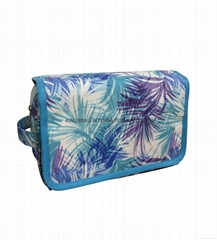 Waterproof polyester toiletry bag,polyester coated organizer bag