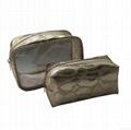 Fashion beauty imitation PU leather cosmetic bag sets,fashion beauty bag sets