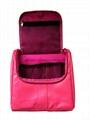 Imitation leather PU hanging toiletry bag, PU toiletry bag