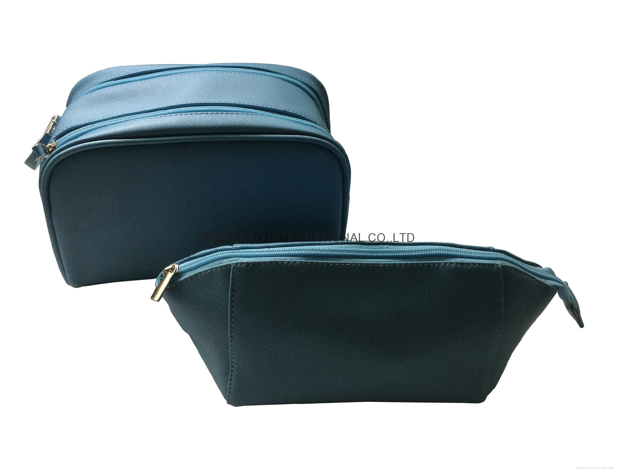 Imitation PU leather saffiano pattern fashion toiletry bag,PU cosmetic bag 2