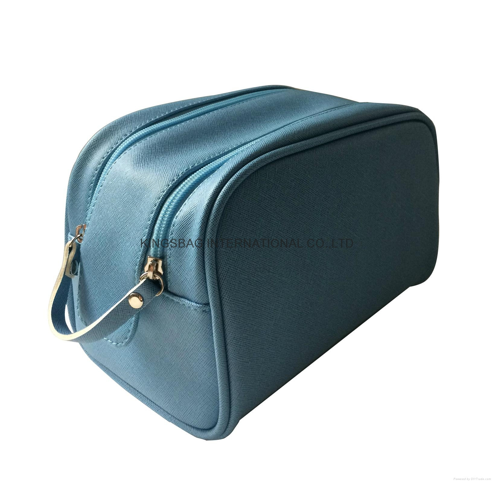 Imitation PU leather saffiano pattern fashion toiletry bag,PU cosmetic bag 1