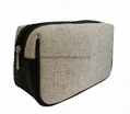 Deluxe jute/pu woven small size men's cosmetic bag,men's travel toiletry bag