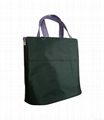 Microfiber tote bag with zippers on the