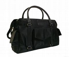 Black nylon mummy duffel bag, nylon mummy travel bag
