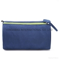Polyester double zipper travel toiletry bag,men's polyester cosmetic bag