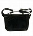Varnish shiny PU ladies shoulder bag black ,orange colour,patent PU ladies bag