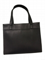 Synthetic leather PU snake pattern fashion tote shopper bag in black colour