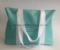 Microfiber Beach Bag for ladies.Tender Green microfiber tote bag