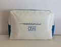 Nylon cosmetic bag white colour