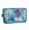 Polyester coated travel toiletry bag