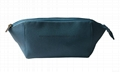 Crosses pattern PU toiletry bag with double zipper at top