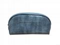 Shiny PU shell shape cosmetic bags ,shiny PU makeup bag blue colour