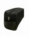 Black nylon men's toiletry bag w/short handle,portable nylon men cosmetic bag