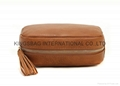 Synthetic leather PU cosmetic bag/makeup bag with tassel puller