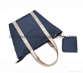 Large size canvas tote shopper bag with pp webbing handles