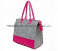 Two tone portable Felt thermal cooler bag