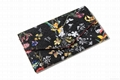 Floral PU leather ladies clutch purse with flap.