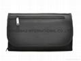 Black polyester travel wash bag,men's toiletry bag
