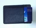 PU Litchi pattern card holder black colour
