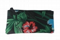 Flower pattern polyester coated ladies clutch purse wallet bag