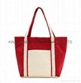 Canvas small shopper bag,portable canvas small shopping bag
