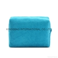 Deluxe Cashmere fabric large size cosmetic bag.makeup bags
