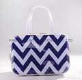 Polyester covered with PVC portable lady cosmetic makeup bags