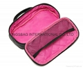 PU diamond quilted portable cosmetic storage bag,makeup bags
