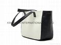 Faux leather PU small lady tote handbag,synthetic PU small tote bag