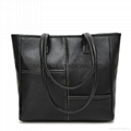Litchi patter PU leather large tote
