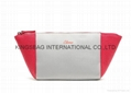 Two colour combination faux leather PU cosmetic clutch bag,makeup bags